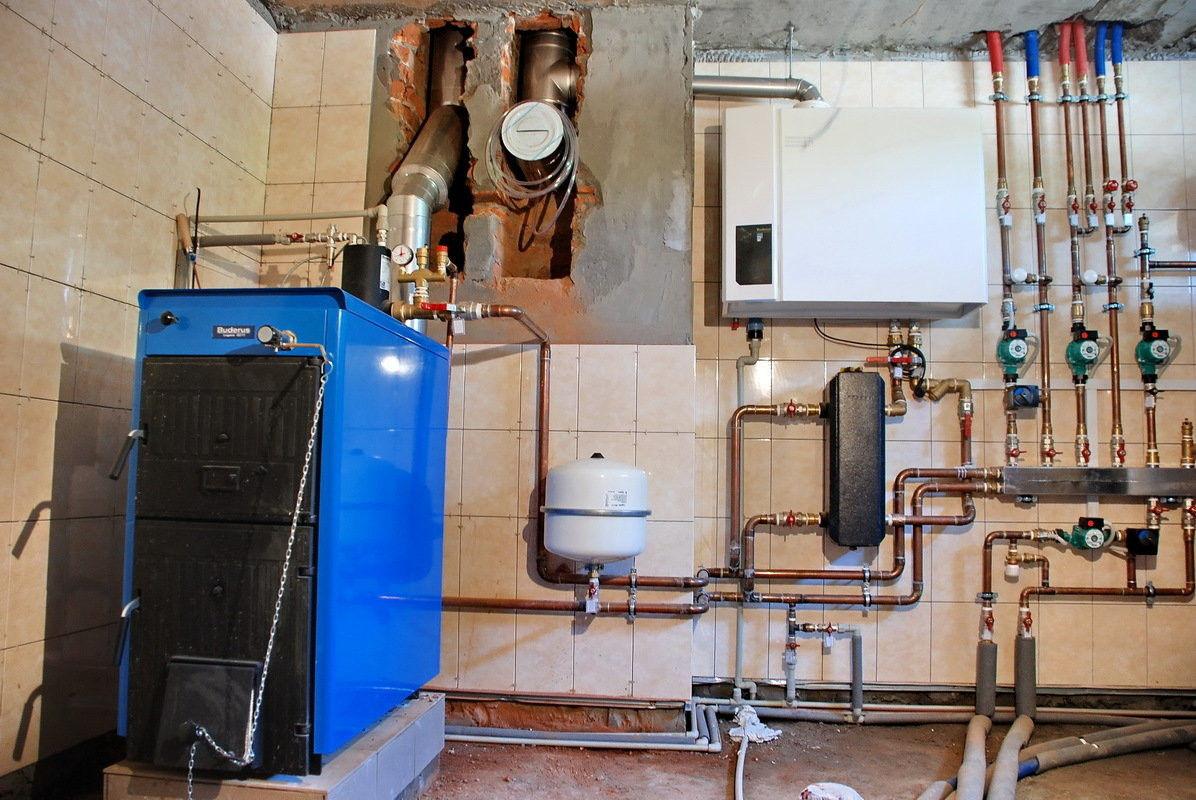 Подключение твердотопливного котла к системе отопления